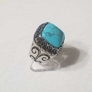 New stainless steel turquois ring